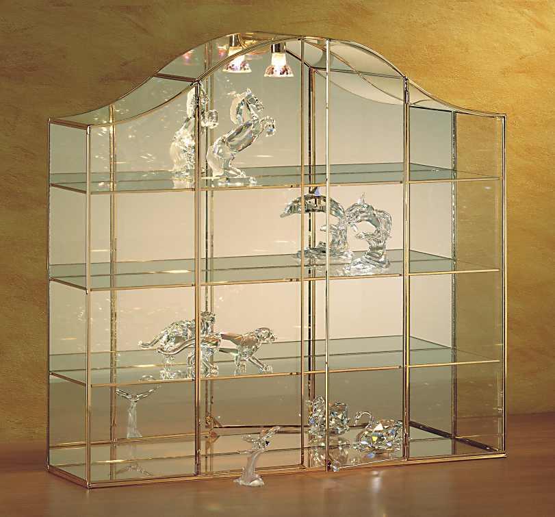 vitrines de collection de luxe pour figurines en cristal. Black Bedroom Furniture Sets. Home Design Ideas